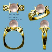 Fancy diamond jewelry design ring,  rubber mounting
